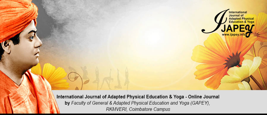 IJAPEY, Online Journal || International Journal of Adapted Physical
